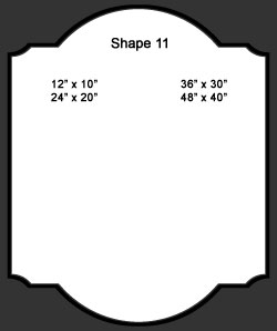 Standard Wall Shape 11
