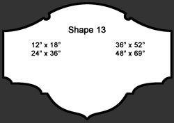 Standard Wall Shape 13